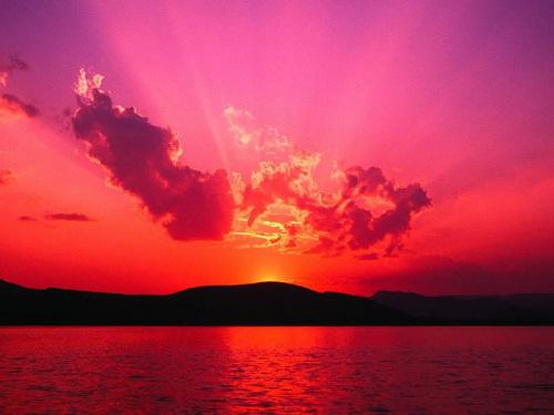 ah jaki piekny ten zachód słońca!! czyz nie:D