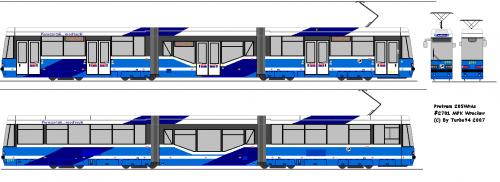 Protram 205WrAs #2701 - MPK Wrocław. Pierwszy tramwaj częściowo niskopodłogowy w MPK Wrocław.