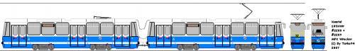 Konstal 105NWr #2208 + #2209 - Modernizacja wykonana przez Protram.