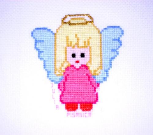 Julia, kl.VI #haft #aniołek