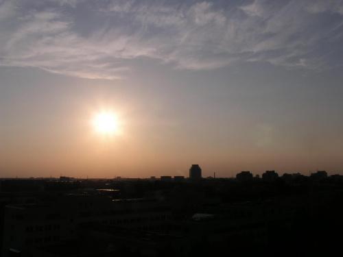 Zachod slonca z okna akademika #ZachódSłońca #zmierzch #mrok