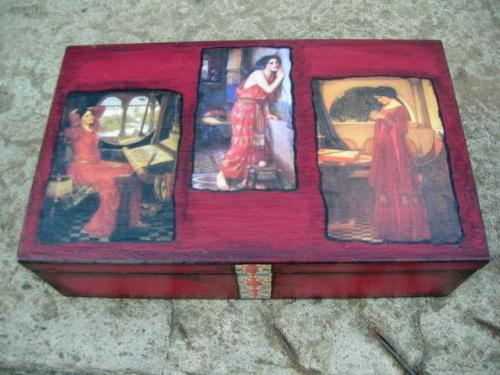 Pudełko wiśniowe I
