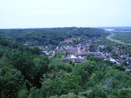 #panorama #KazimierzDolny #PanoramaKazimierzaDolnego #przyroda #drzewa #lasy #architektura #Wisła