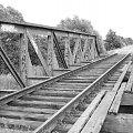 Stary, nieużywany most kolejowy #most #widok #czerń #opuszczone