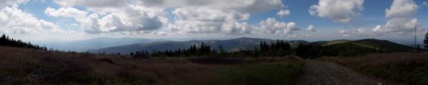 Pod Skrzycznem panorama na Małe Skrzyczne i Baranią Górę #skrzyczne #beskid #panorama #krajobraz #barania
