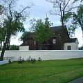 TOMASZÓW MAZOWIECKI - drewniany kościółek św.Marcina biskupa - pochodzi z XVII wieku - dzielnica Białobrzegi-ul.Gminna #kościół #drewniany #zabytek #Białobrzegi #TomaszówMazowiecki