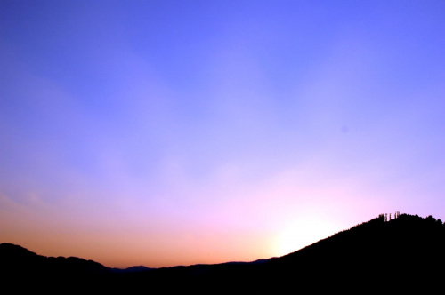 Zachód słońca w Pieninach #Góry #Szczawnica #Bryjarka
