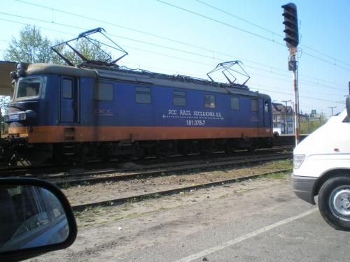 Pociąg z Jaworzna na stacji kolejowej #pociąg #lokomotywa