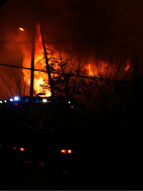 Pożar w Bronowicach W. 6listopada08 #pożar #bronowice #ogień #dym