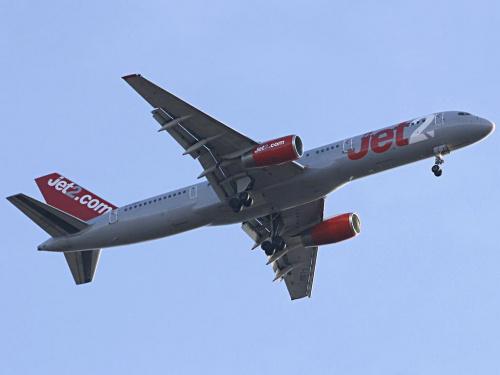 Jet2 nad Bronowicami 28lis08 #b757 #Balice #boeing #epkk #jet2