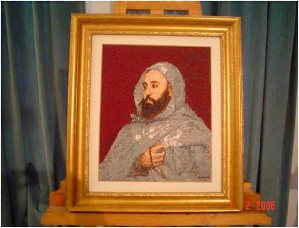 Portret - L'Emir AEK #Algieria #postacie #historia #hafty